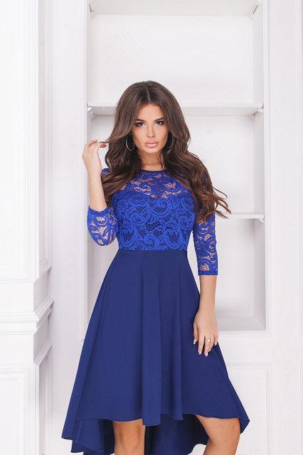 Роскошное вечернее платье с гипюром 42- 58рр.