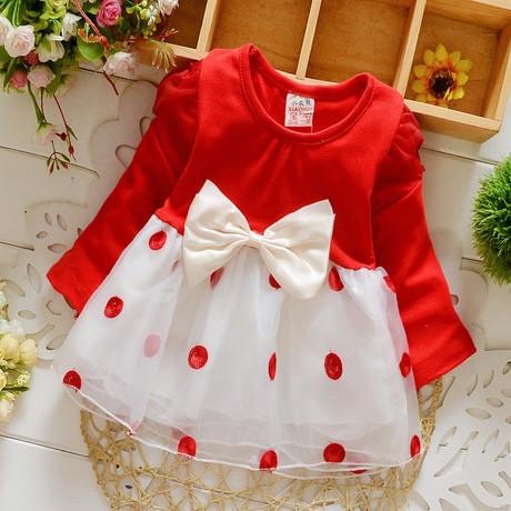 Платье нарядное детское на девочку длинный рукав красное с бантиком