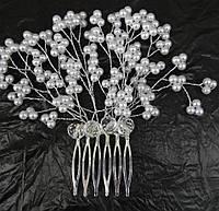 Гребни свадебные с нежными цветами. Свадебный гребешок с жемчугом, фото и низкие цены. 187