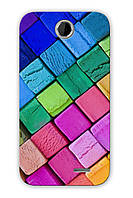 Чехол для HTC Desire 310 (цветные кубики)