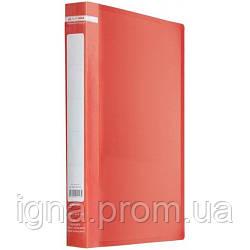 /Папка пласт. з 2-ма кільцями, А4 (25мм), JOBMAX, червоний