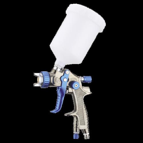 Краскопульт пневматический тип LVLP верхний пластиковый бачок, диаметр форсунки-1,3мм  AUARITA   L-897-1.3