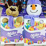 Новогодний подарок ребенку Milka Plüschtier Magic Mix Elch (мягкая игрушка со сладостями), 133 гр., фото 3