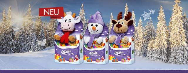 Лучшая идея новогоднего подарка ребенку - набор Milka игрушка со сладостями!