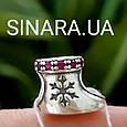 Шарм Рождественский Сапожек Пандора серебро 925 - Сапожек для подарков шарм серебряный, фото 2