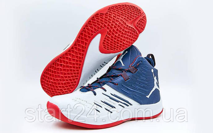 bda4640d Обувь для баскетбола мужская Jordan W8509-4 (р-р 41-45) (PU, белый ...