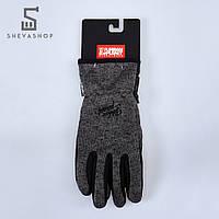 Перчатки сенсорные UP Knited Graf темно-серые