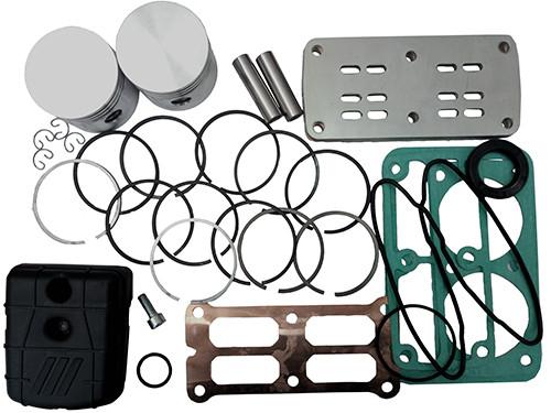 Рем. комплект для компрессора AB200-510-380 (фильтр, клапанная плита, н-р прокладок, н-р поршней (2шт), н-р поршневых колец (2шт) FIAC 4086510000