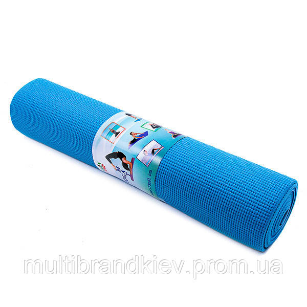 Йогамат, коврик для фитнеса, GreenCamp, 4мм, PVC, чехол. Цвета в ассортименте.
