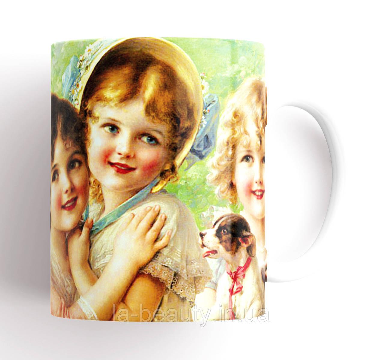 """Красивая керамическая чашка для чая """"Очаровательные дети"""""""