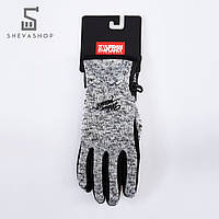 Перчатки сенсорные UP Knited Mel серые