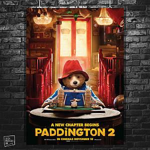 Постер Paddington, Медвежонок Паддингтон. Размер 60x41см (A2). Глянцевая бумага