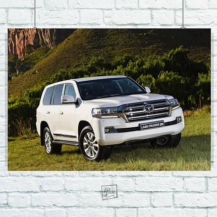 Постер Toyota Land Cruiser 200, Тайота. Размер 60x42см (A2). Глянцевая бумага, фото 2