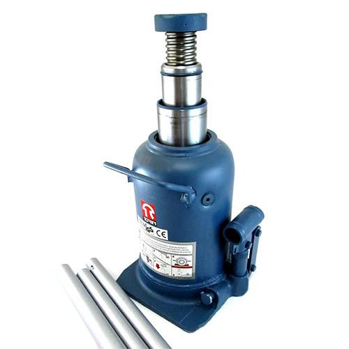 Домкрат бутылочный профессиональный двухштоковый 10т высота подъема 210-520 мм   TORIN  TH810001
