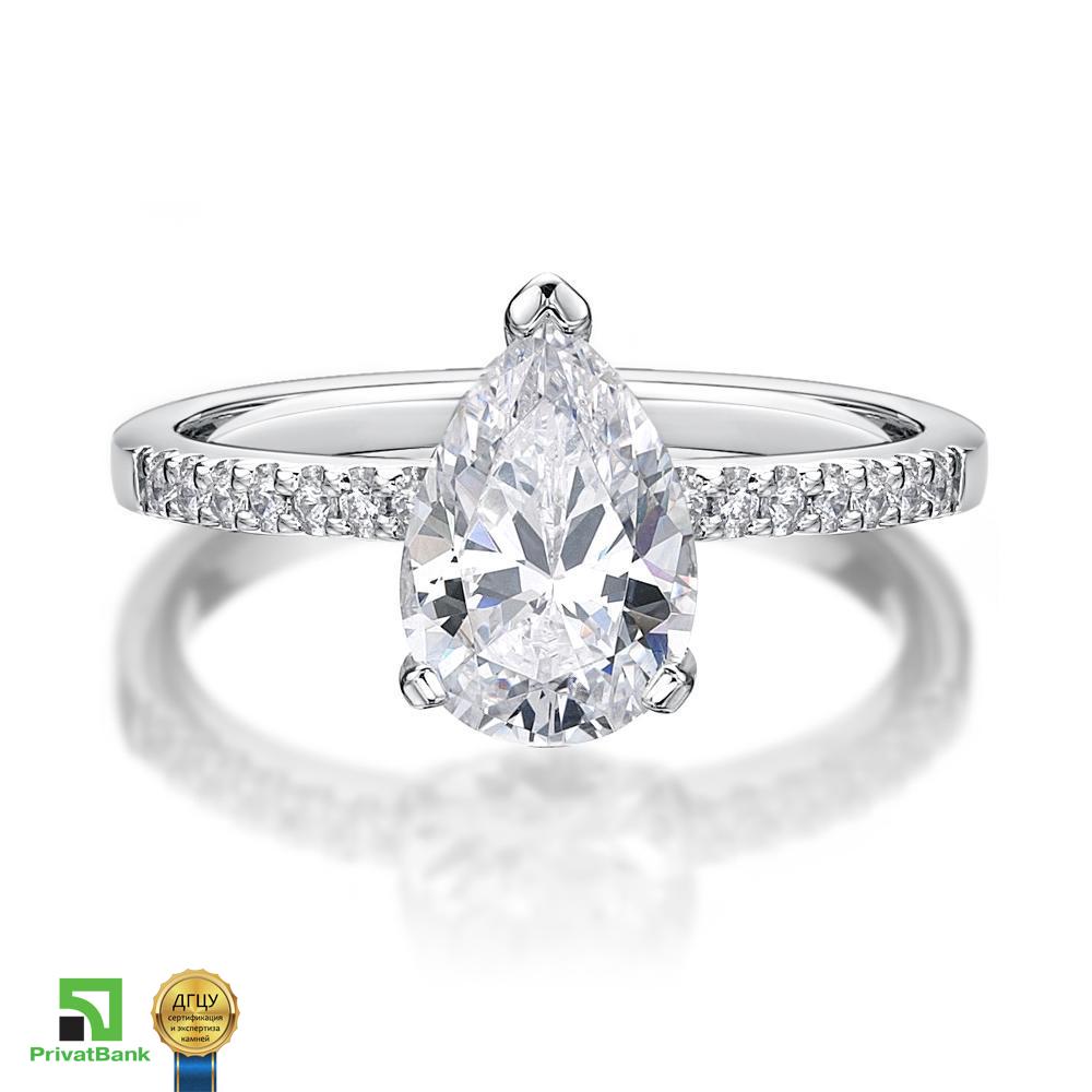 Золотое кольцо с Муассанитом (изготовление)