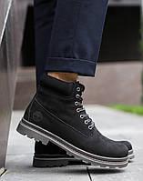 Мужские зимние ботинки Timberland (black), ботинки черные timberland, , фото 1