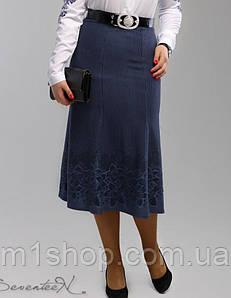 Женская трикотажная юбка годе больших размеров (2000-2001-2002-2003 svt) Синий 02