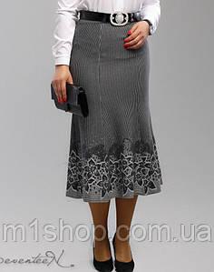 Женская трикотажная юбка годе больших размеров (2000-2001-2002-2003 svt) Серый 00.
