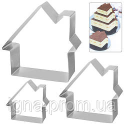 "Кольца для торта ""Дом"" 3пр/наб N01946 (48наб)"