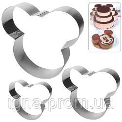 "Кольца для торта ""Микки"" 3пр/наб N01949 (48наб)"