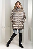 74919991adba Зимний пуховик больших размеров из итальянской блестящей ткани Snow Owl  18В719М-1