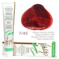 Vitality's Collection - Крем-фарба з трав'яними екстрактами 7/45 (глибокий середній червоний)