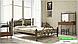 Металлическая кровать Жозефина на деревянных ножках ТМ «Металл-Дизайн», фото 6