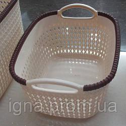 Корзина-плетенка для белья пластик 37*30*22см R85470 (36шт)