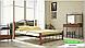 Металлическая кровать Кассандра на деревянных ножках ТМ «Металл-Дизайн», фото 2