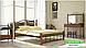 Металлическая кровать Кассандра на деревянных ножках ТМ «Металл-Дизайн», фото 7