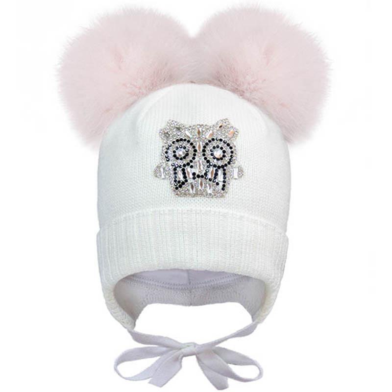 Зимняя шапочка с двумя Бурбонами р-р 42
