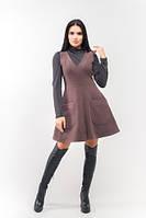 Эксклюзивное тёплое и демисезонное платье Брунэ ЛСБ 1502