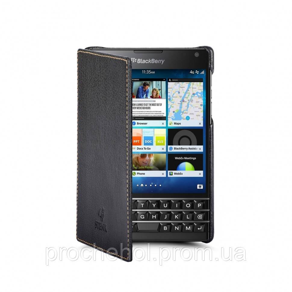 Чехол книжка Stenk Premium для BlackBerry Passport Чёрный (11355)