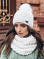 Шапка зимняя женская белая 94381/3