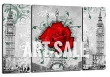 Картина Триптих Лондон Париж