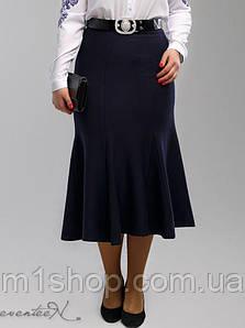 Женская синяя юбка годе больших размеров (2006 svt)