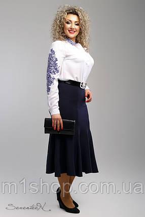 Женская синяя юбка годе больших размеров (2006 svt), фото 2