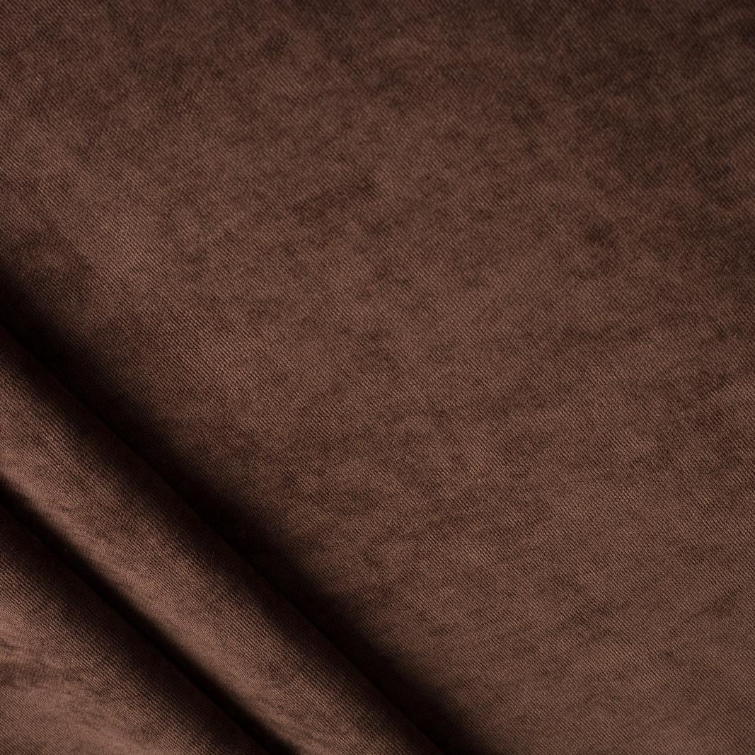 Ткань для штор коричневая Dream