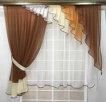 """Кухонный набор штор """"Серпантин Коричневый"""", фото 3"""