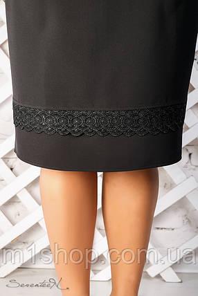 Женская юбка с кружевом по низу больших размеров (2310 svt), фото 2