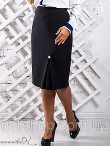 Женская черная зауженная юбка больших размеров (2311 svt)