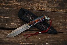"""Нож ручной работы """"Буйвол"""", дамасск (наличие уточняйте)"""