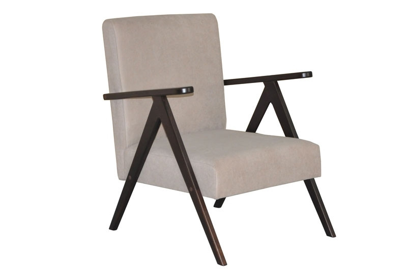 Крісло в вітальню з натурального дерева Шарлот Скіф
