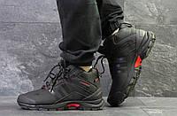 Зимние мужские кроссовки Adidas Climaproof черные с красным  (Реплика ААА+)