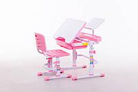 Комплект Парта и стул-трансформеры Funkids M7038 Pink+Подставка для книг!