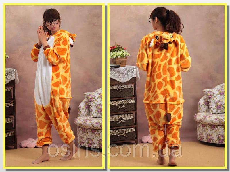 Пижама Кигуруми взрослая Жираф L (на рост 160-170 см)  продажа 14b3f78b2bb08