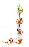 """Подвеска с колокольчиком """"слоны"""" ткань (90 см) Индия"""
