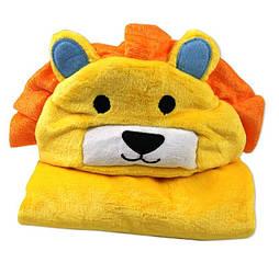 Детское полотенце-пончо львенок