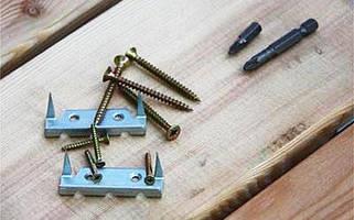 Крепёж для террасной доски (Змейка, шурупы)