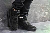 Мужские зимние кроссовки в стиле Vans, черные. Код товара: Д - 6747